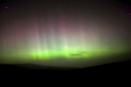 Northern lights over Ingleton