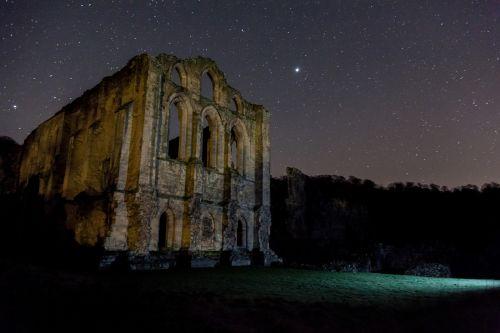 Stars over the ruins of Rievaulx Abbey