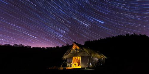 Star trails over Buster Ancient Farm